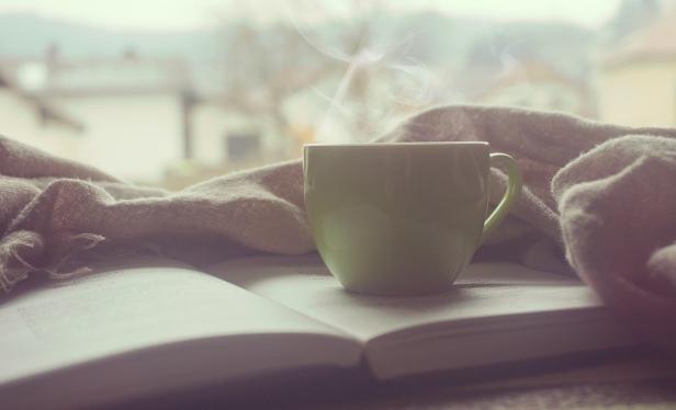 cosy mug and book